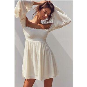 Ecote Elora Off-Shoulder Smocked Dress